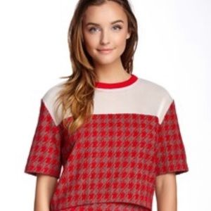 Revolve Endless Rose Deans houndstooth crop top M